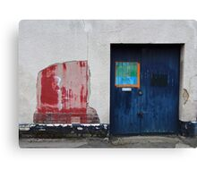 Blue Door / Red Wall Canvas Print