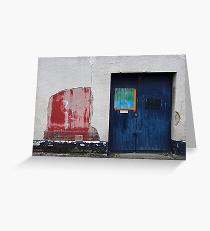Blue Door / Red Wall Greeting Card