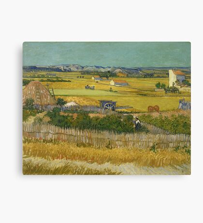 Vincent Van Gogh - The Harvest 1888 Canvas Print