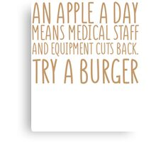 An Apple A Day - Doctor Edition Canvas Print