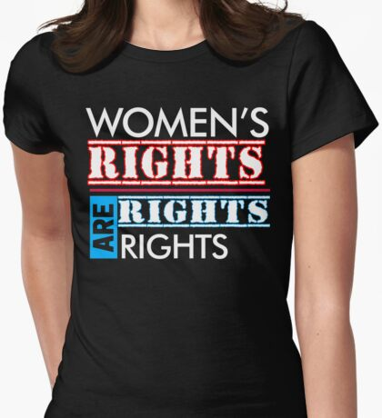 NASTY WOMENS RIGHTS ARE HUMAN RIGHTS - Anti-Trump Womens Fitted T-Shirt