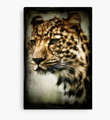 Cheetah fractal digital art Canvas Print