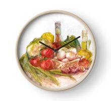 Still life with vegetables Clock
