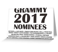 Grammy Nominees 2017 Greeting Card