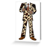 The Classic Cow Suit Cow T Shirt Men Greeting Card