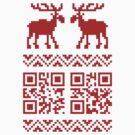 Ugly Christmas Sweater QR Code Happy New Year ! by tinybiscuits