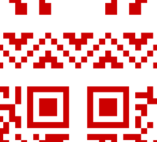 Ugly Christmas Sweater QR Code Happy New Year ! Sticker