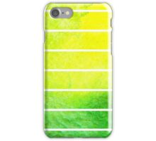 Bright watercolor stripes  iPhone Case/Skin