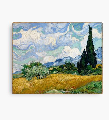 Vincent Van Gogh - Wheat Field With Cypresses 1889 Canvas Print