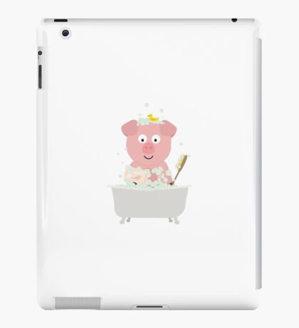 Pig in Bathtube with bubbles iPad Case/Skin