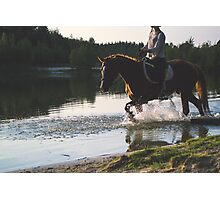 Horse Back Riding Photographic Print