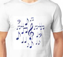 Singing The Blues Abstract Symbol Art Unisex T-Shirt