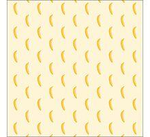 Sweet bananas on yellow Photographic Print