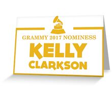 Kelly Clarkson Greeting Card