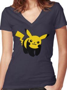 Hey You Pandachu Women's Fitted V-Neck T-Shirt