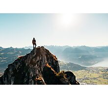 Mountain Climber Photographic Print
