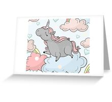 Happy In The Clouds / Unicorn Nursery Greeting Card