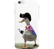 Pirate Captain Duck with Hook Hand iPhone Case/Skin