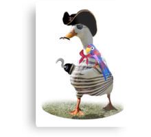 Pirate Captain Duck with Hook Hand Metal Print
