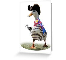 Pirate Captain Duck with Hook Hand Greeting Card