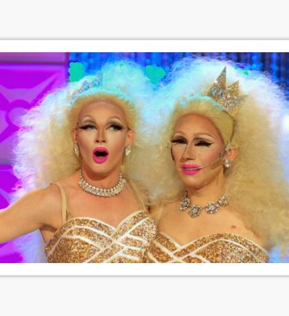 Trixie Mattel and Pearl (Conjoined Queens) Sticker