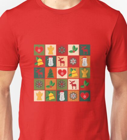 Collection of christmas illustrations Unisex T-Shirt