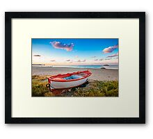 Boat of new year Framed Print