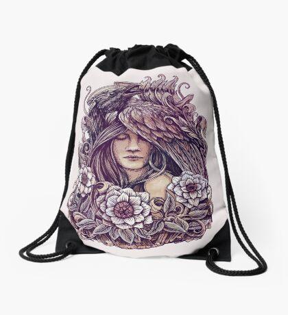 Crow Drawstring Bag