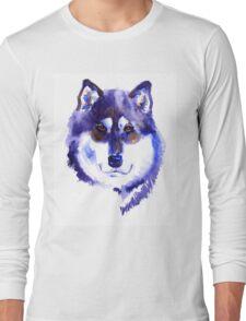 Watercolor Alaskan malamute Long Sleeve T-Shirt
