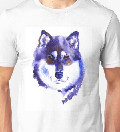 Watercolor Alaskan malamute Unisex T-Shirt