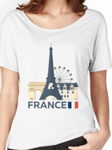 France, Paris skyline Women's Relaxed Fit T-Shirt