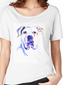 Watercolor American Bulldog  Women's Relaxed Fit T-Shirt
