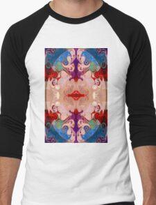 Drenched In Awareness Abstract Healing Artwork  Men's Baseball ¾ T-Shirt