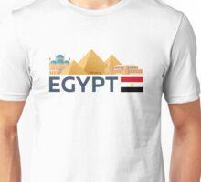 Egypt skyline. Pyramid Unisex T-Shirt