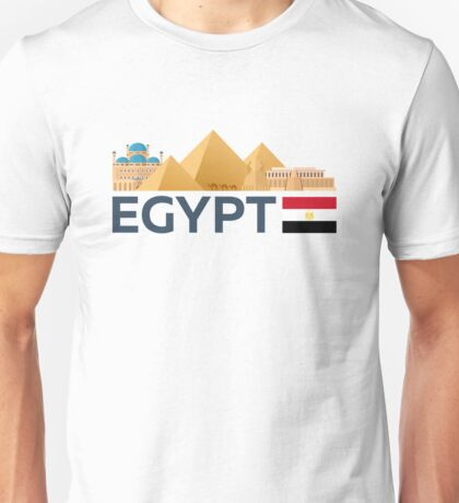 Egypt skyline. Pyramid Unisex T-Shirt