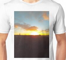 Sunset on a winter moor Unisex T-Shirt