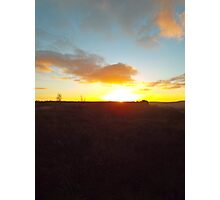 Sunset on a winter moor Photographic Print