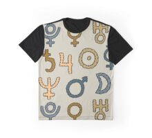 Seamless texture with set of planets Graphic T-Shirt