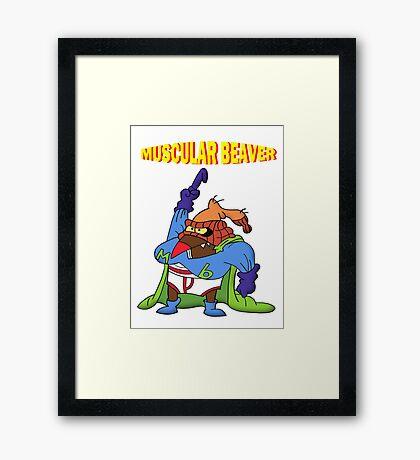 Muscular Beaver Framed Print