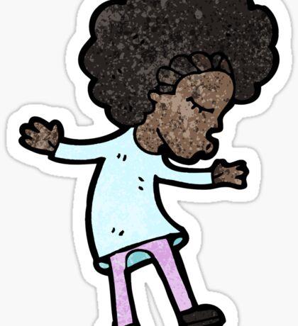 cartoon dancing woman Sticker