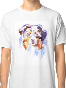 Watercolor Australian shepherd Classic T-Shirt