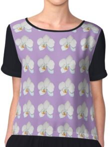 Orchid on Lilac Chiffon Top