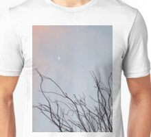 New moon and winter plant Unisex T-Shirt