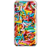 Colorful sweet background with colorful sprinkles iPhone Case/Skin