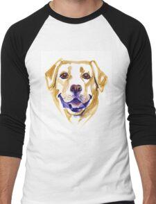 Watercolor Labrador Retriever Men's Baseball ¾ T-Shirt