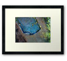 Peatland Abstract - 813092015 Framed Print
