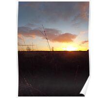 Moor sunset Poster