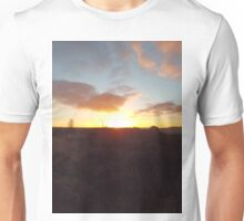 Winter sunset Unisex T-Shirt
