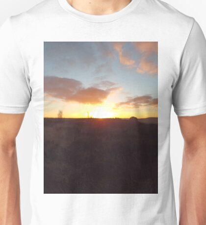 Winter sunset Unisex T-Shirt