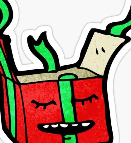 christmas present cartoon character Sticker